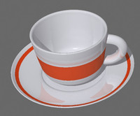 Realistic coffee cup