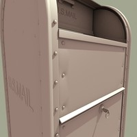 3d model postal mailbox
