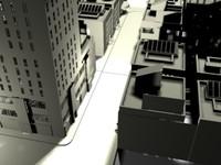 3d buildings city model