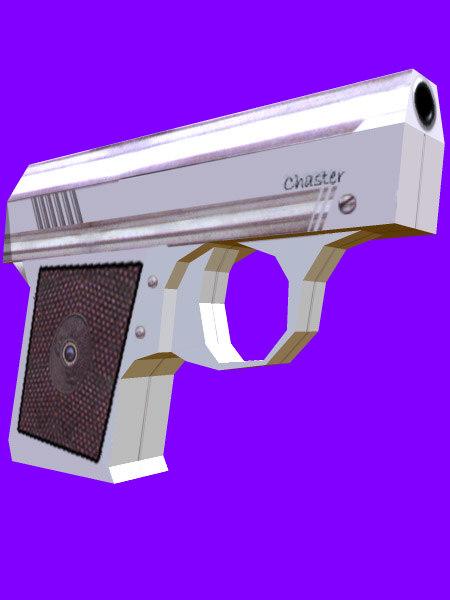 revolver gun 3d obj