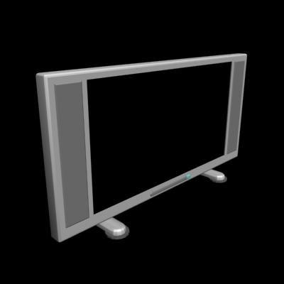 3d model flat tv