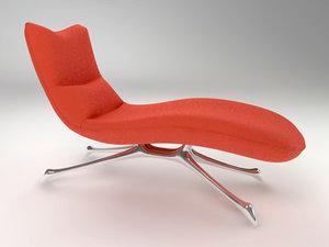 kagan chaise 3d model