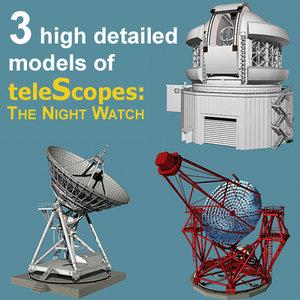3d model watch telescope