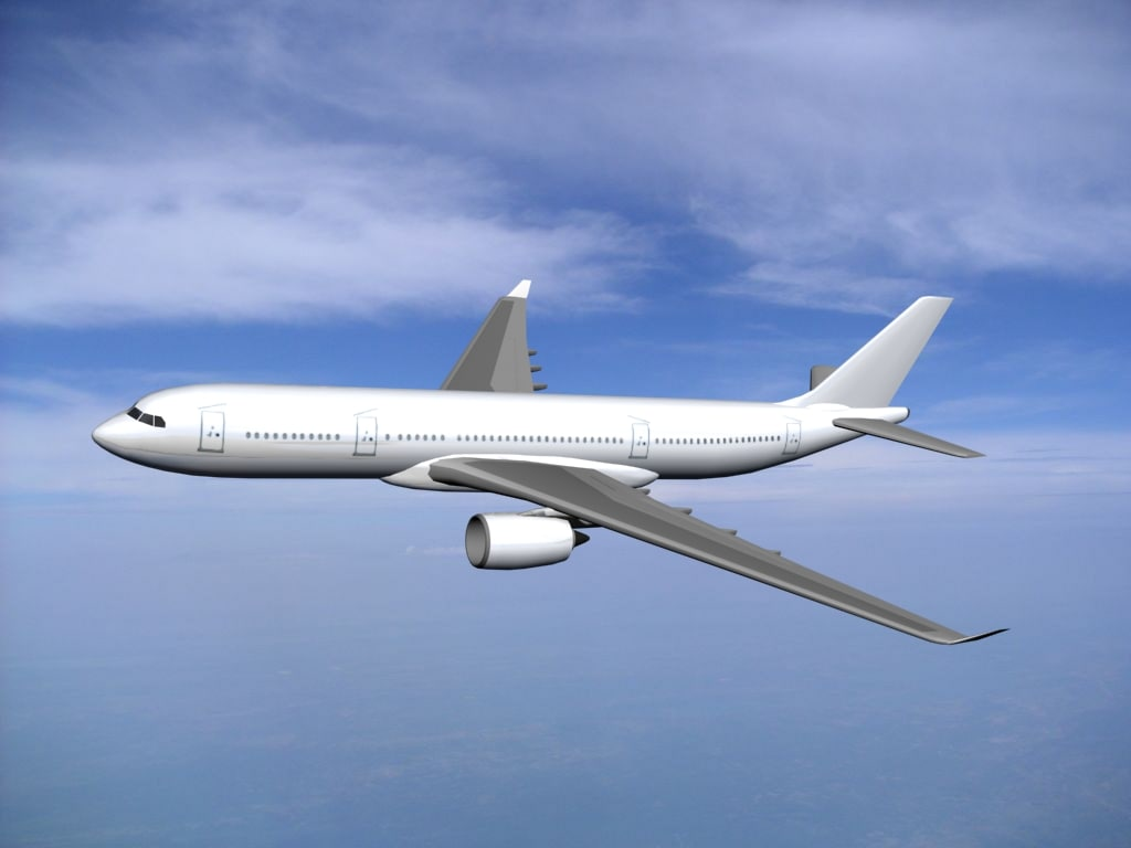airbus industrie a350-800 generic 3d model