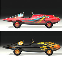 marx rocket racer toy car 3d model