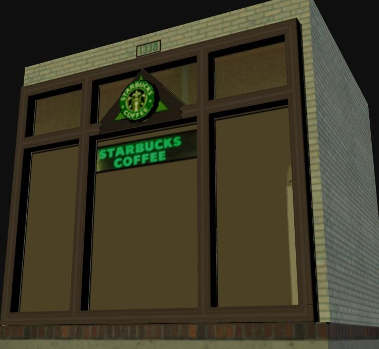 starbucks stores 3d model
