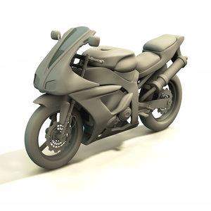 yamaha superbike 3d model