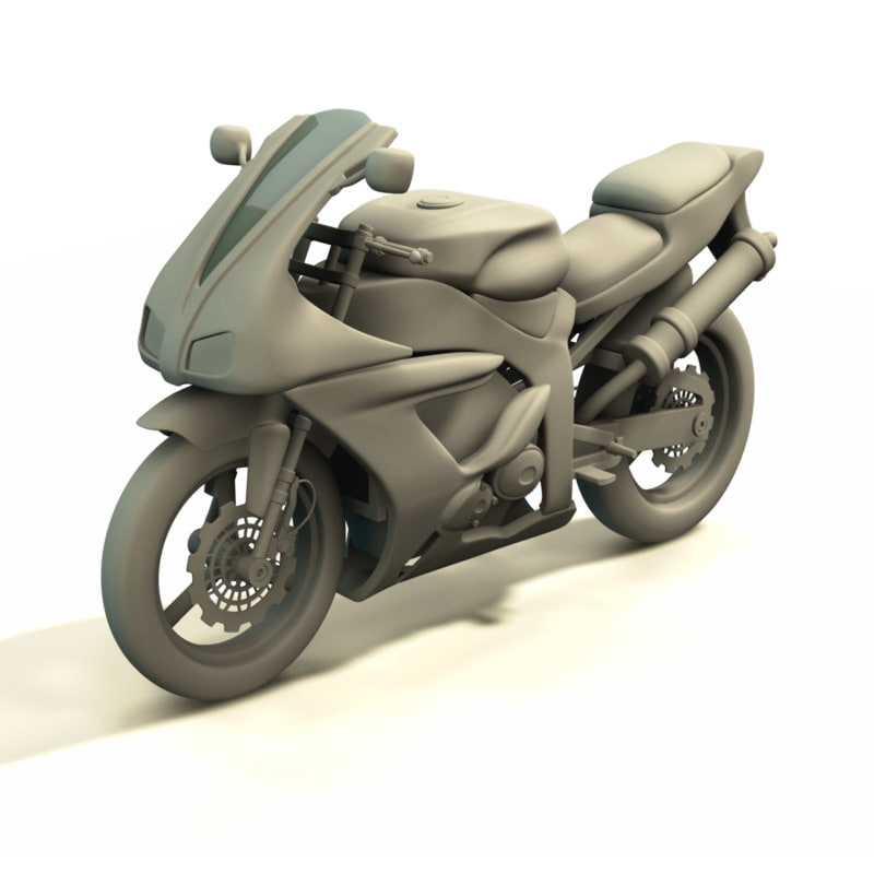 yamaha superbike 3d model