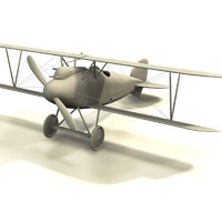 albatros d iii airplane 3d model