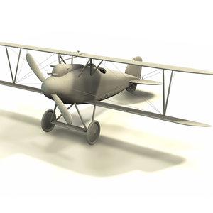 albatros d iii airplane 3d model
