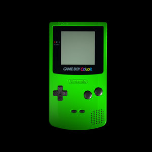 nintendo gameboy color console 3d ma