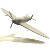 3d spitfire airplane
