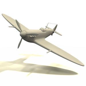 3d spitfire airplane
