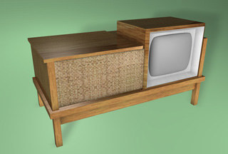 console television non-textured 3d model