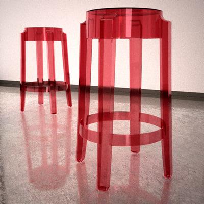 charles ghost stool 3d model