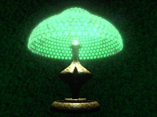 table lamp glass 3d model