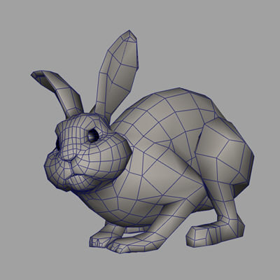 rabbit 3d obj