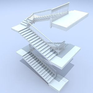 3d max staircase grand