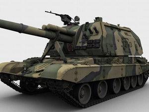 3d russian msta tank