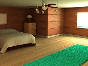3ds max bedroom room