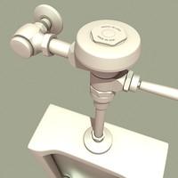 3d model public restroom urinal