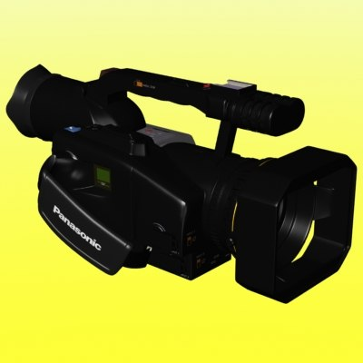 3d model panasonic video camera