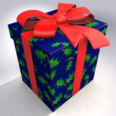 gift christmas bow 3ds