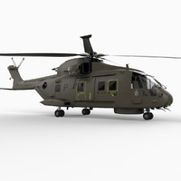 agustawestland eh101 merlin helicopter 3d model