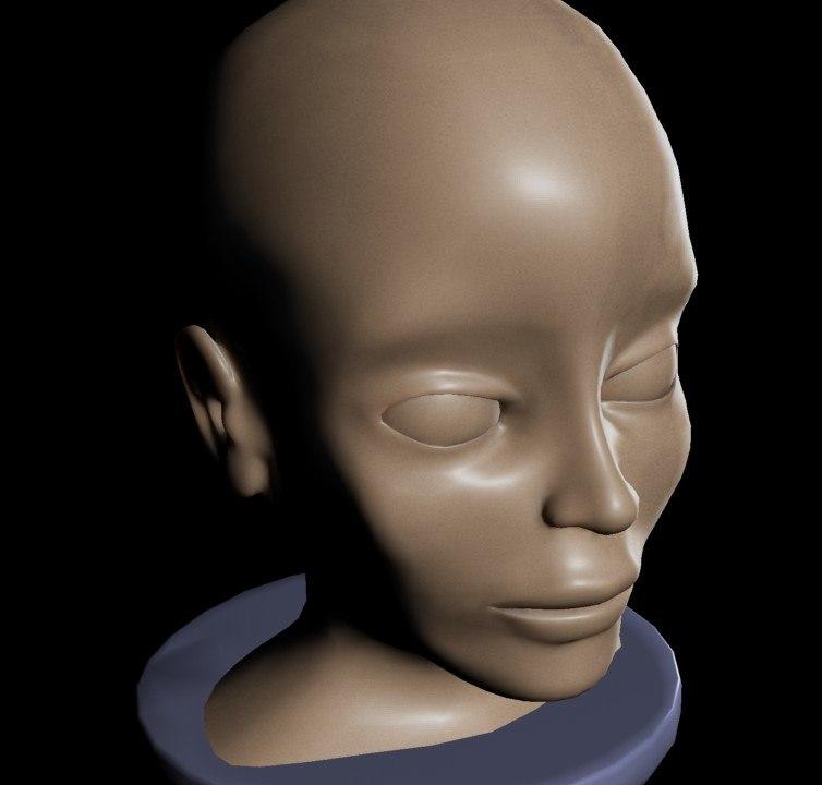 3ds max women head
