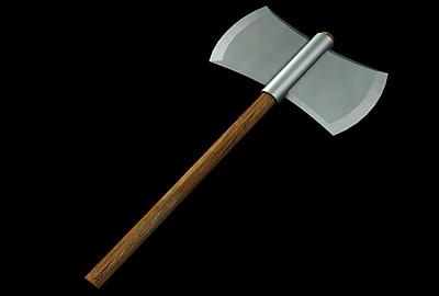 3d axe weapon model