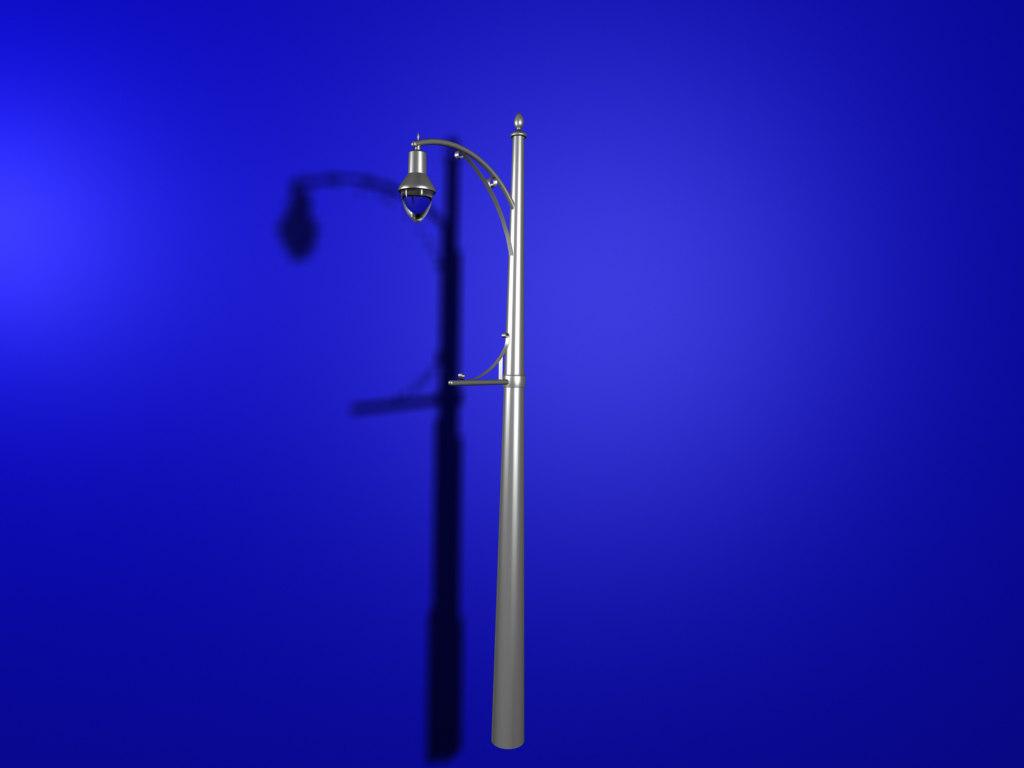 classic memphis street lamp 3d max