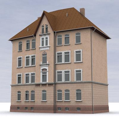 c4d building house