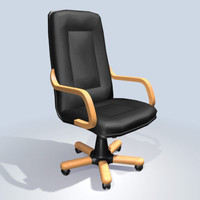 3d office armchair model