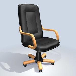 3d office armchair model