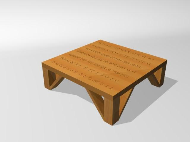 3d coffee table - model