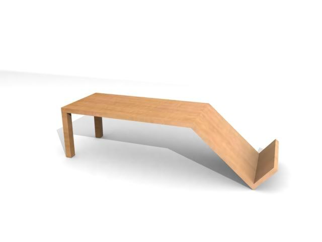coffee table - 3d max