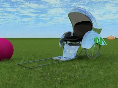 silver bullet executive rickshaw 3d model