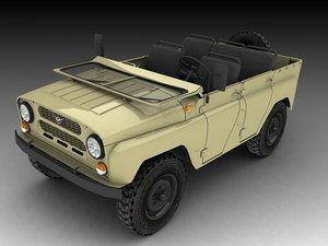 mid-poly uaz 3d model