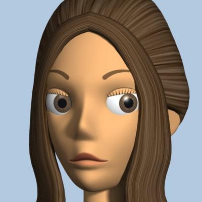 female character v3 3d model
