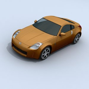 3d nissan 350z sports car