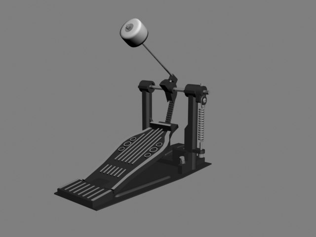 3ds max drum pedal