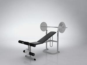 3d model of sports equipment