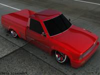lowrider toyota 3d model