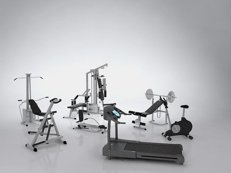 3d fitness set model