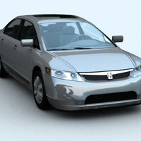 3d model honda civic 2006
