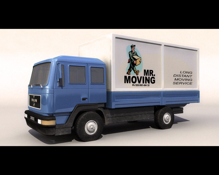 3d man - truck model
