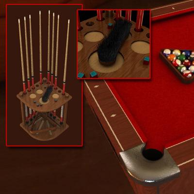 pool table modeled 3d model