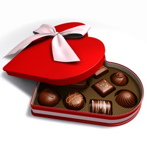 3ds max heart chocolate box