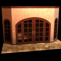 3D French Doors Model