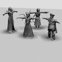 fantasy human 3d model